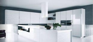 Siyah Beyaz Stil Mutfak Dolapları