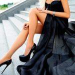 siyah deri platformlu ince topuklu ayakkabı
