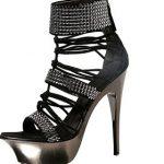 siyah platformlu ayakkabı modeli