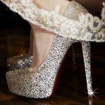 taşlı lame parlak abiye ayakkabısı ve gelin ayakkabısı modeli