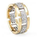 taşlı sarı altın nişan yüzüğü