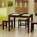 tabure detaylı mutfak masası