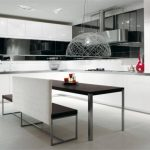 tasarım harikası siyah beyaz mutfak dolabı