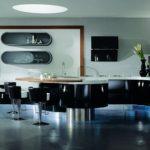tasarım model siyah beyaz mutfak dolabı
