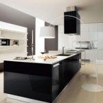 tasarım siyah beyaz mutfak dolabı
