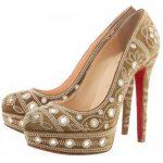 vizon taşlı ayakkabı modeli