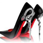 yılan topuklu kırmızı altlı ayakkabı