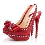 zımbalı kırmızı ayakkabı modeli