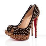 zımbalı leopar topuklu ayakkabı modeli