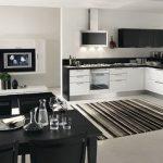 zarif siyah beyaz mutfak dolabı