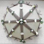 çiçek detaylı gelin şemsiye modeli