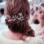 çiçekli saç tokası modeli