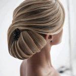 şık topuz saç modeli