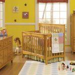 ahşap bebek odası modeli