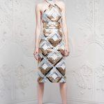 alexander mcqueen desenli elbise modeli