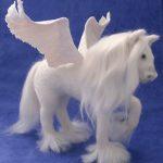 amigurumi beyaz pegasus modeli