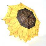 ayçiçeği figürlü şemsiye modeli