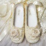 babet model güllü gelinlik ayakkabısı