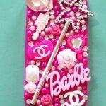barbie'li ep telefonu kılıfı
