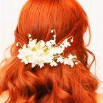 beyaz çiçekli saç tokası