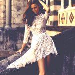 beyaz dantel gece elbisesi