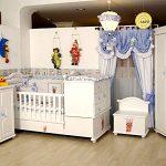 beyaz erkek bebek odası modeli