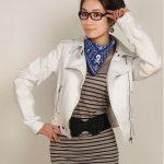 beyaz fermuarlı deri ceket modeli
