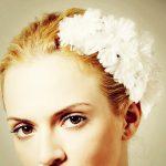 beyaz papatyalı saç bandı modeli