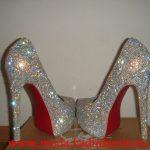 beyaz taşlı ayakkabı modeli