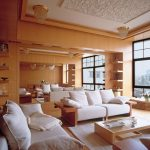beyaz ve mobilya salon modeli
