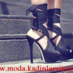 bilekli siyah ayakkabı modeli