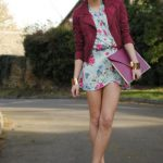 bordo ceket ve elbise modeli