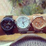 bronz gümüş ve altın renkli saat modelleri