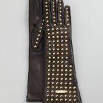 burberry siyah zımbalı eldive modeli