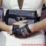 chanel siyah deri eldiven modeli