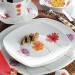 cicekli kutahya porselen kahvalti takimi modelleri