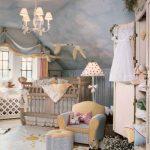 deniz dekorasyonlu bebek odası modeli