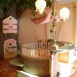 doğa temalı bebek odası modeli