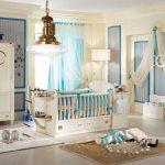 dore aksesuarlı bebek odası modeli