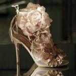 ekru güllü gelinlik ayakkabı modeli yeni