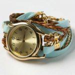 farklı kayışlı modern bayan kol saati