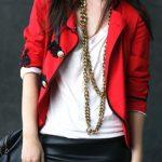 fransız kırmızı ceket modeli yeni