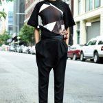 givenchu geometrik bluz ve pantolon modeli