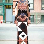 givenchy desenli uzun elbise modeli