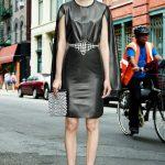givenchy siyah deri elbise modeli