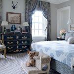 gri şık lüx yatak odası modeli
