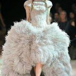 gri otrişli gece elbisesi modeli