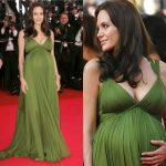 haki yeşili hamile elbisesi trend