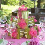 hediye temalı tabak dekorasyon modeli