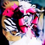 hello kitty zebra esenli saç bandı